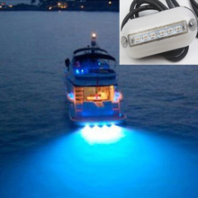 12V Marine Boat Yatch Underwater Light 6LED Swimming Pool Pond Landscape Lamp Red/Blue/Green