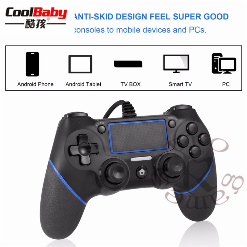 DHL 10pcs/lot USB Wired Gamepad Controller For PS4 Game Controller For Sony Playstation 4 Joystick Gamepads