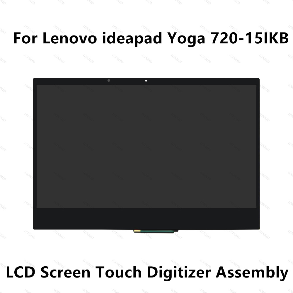 LCD Screen Display Panel Touch Glass Digitizer Assembly+Bezel For Lenovo Yoga 720 15IKB 81AG 4K UHD 3840X2160 FHD 1920X1080 IPS grassroot 14 0 inch lcd touch screen digitizer bezel display assembly for lenove yoga 460 fhd ips lcd screen with frame