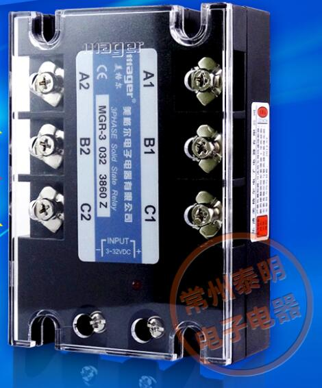 Genuine three-phase solid-state relay MGR-3 032 3860Z DC-AC DC AC 60A genuine three phase solid state relay mgr 3 032 3880z dc ac dc control ac 80a