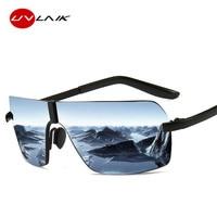74c0d053e ... Óculos de Sol Da Marca Polarizada De Dos Homens Sem Aro Moldura  Quadrada Metal Eyewear Viagem UV400. UVLAIK Polarized Sunglasses Men  Rimless Alloy ...