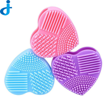 1PC Colorful Heart Shape Clean Make Up Brushes Wash Brush Cleaner Glove Scrubber Board Cosmetic Cleaning Tools Makeup Brushes