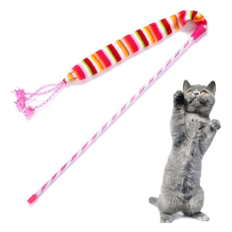 Kat Speelgoed Rainbow Kleur Grappige Kat Sticks Katten Interactieve Stok Supplies