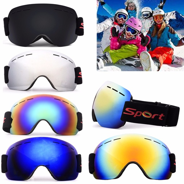 236bc886bb8c Professional Ski Goggles 5 Colors Adult Anti-fog UV Snow Sports Skiing  Snowboard Goggles Winter Windproof Sport Sunglasses
