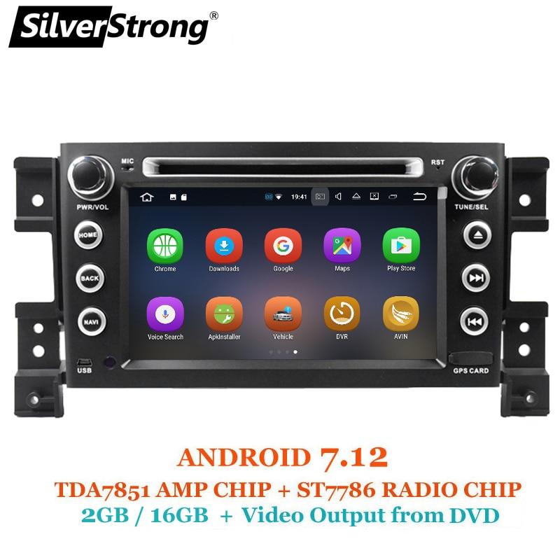 SilverStrong New Radio Android 7.12 Car DVD for SUZUKI Grand Vitara 2007+ with 2GB RAM 16G ROM Anroid Car Vitara Radio цена