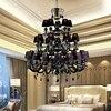 European LED Crystal Chandelier Living Room Black Crystal Lamp Hotel Restaurant Large Crystal Chandelier Candle Chandelier