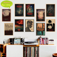 Stranger Things retro papel kraft poster Bar Café Vintage impresión dibujo core pintura decorativa de pared