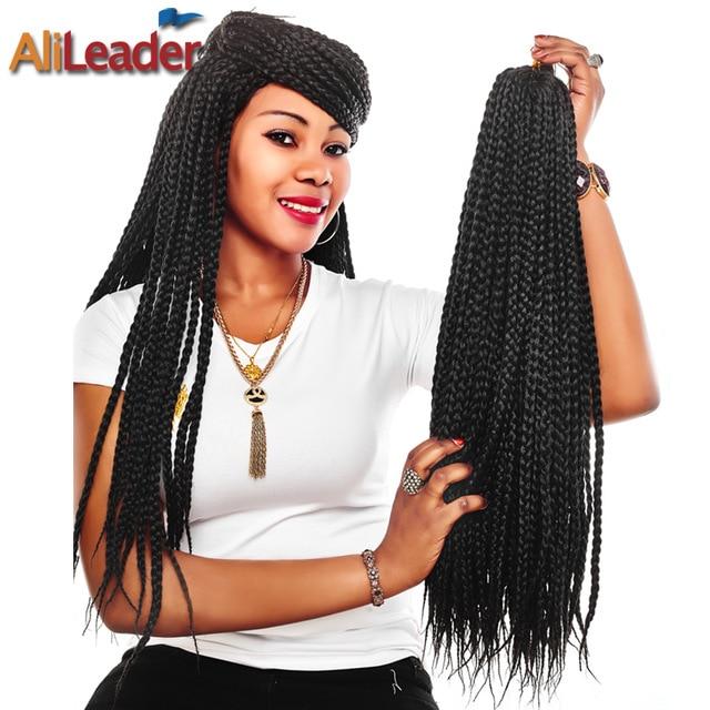 Alileader Crochet Box Braids 12 30 Inch Short Medium Long Size Synthetic Hair Kanekalon Pre