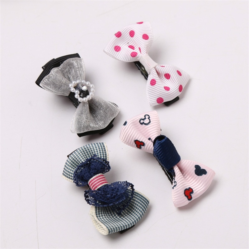 1PCS Lovely Lace Love Bow Hairpin Hair Bands Toys For Girls Handmade Small Clips Headband Scrunchy Hair Accessories For Kids