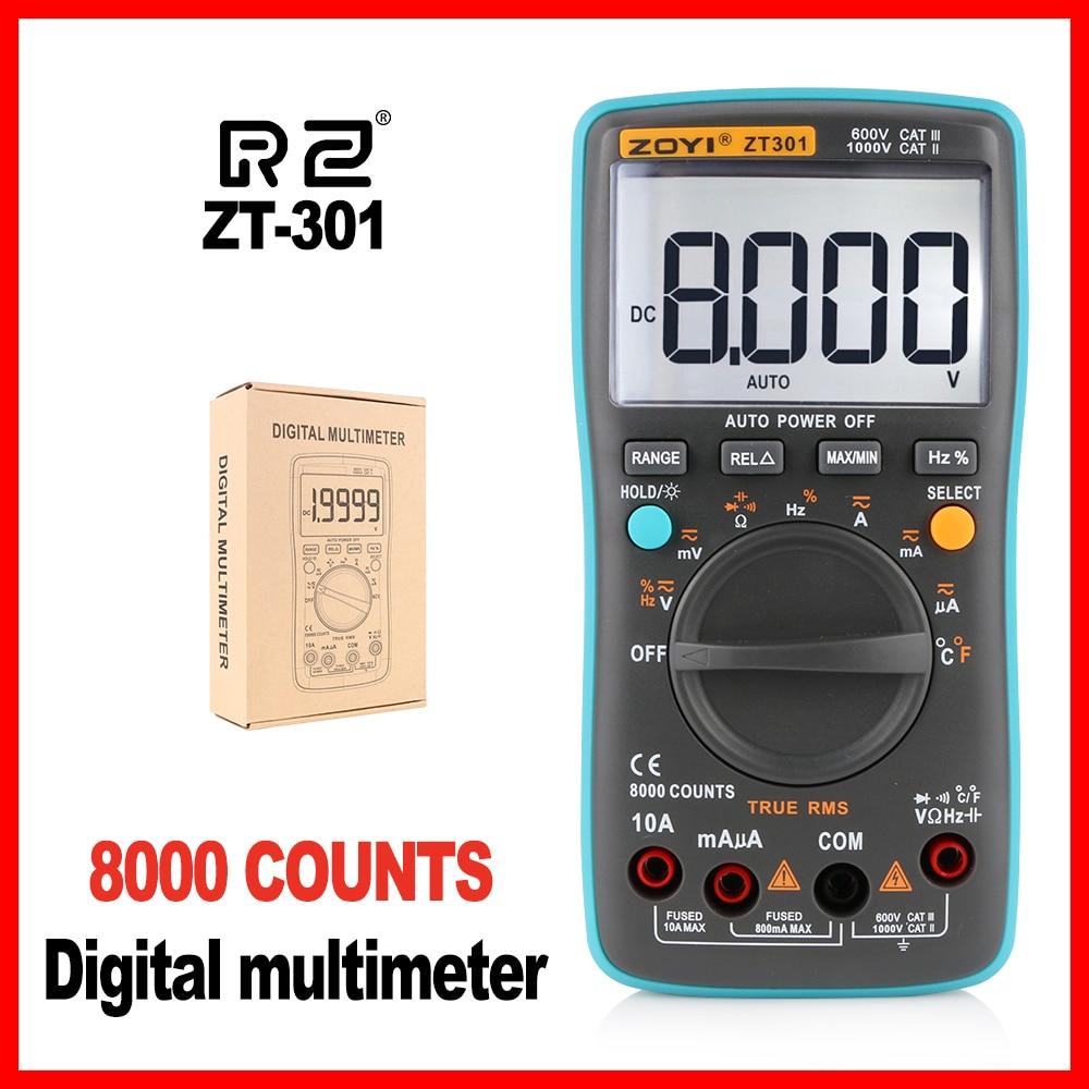 цена на High Quality Professional Industrial LCD Digital Backlight Multimeter high-accuracy Multimeter ZT301