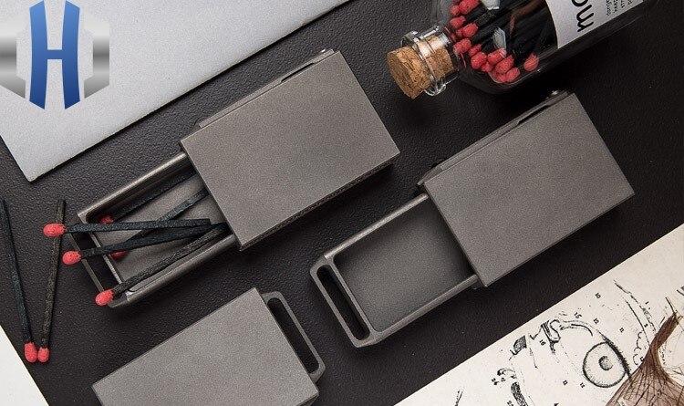 Criativo portátil compacto edc liga titanium draw