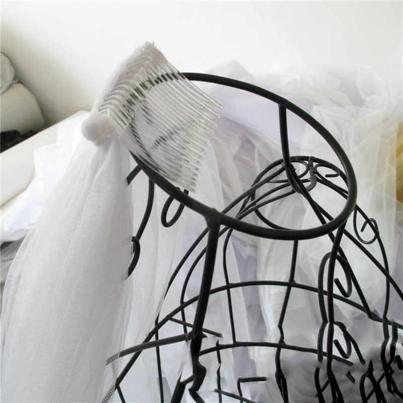 5X Klar Frauen Schleier Kopfstück Hochsteckfrisur Seite Kamm Haar Stecker Halter für Braut Hochzeit