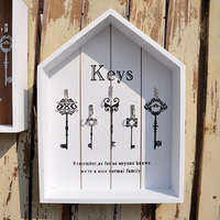 Creative Retro House Key Box Multi function Storage Wooden Manual Arts And Craft Wall Place Adorn Household Desktop Hanged Adorn