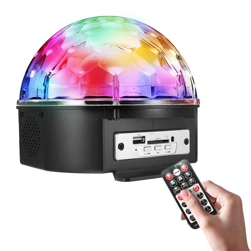 9 Color LED DJ Stage Light Rotating Crystal Magic Ball Lights Sound Control with Remote Control for Wedding Party Club ALI88 шампунь organic shop organic kitchen thick cleansing shampoo clay so clean объем 100 мл