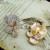 2015 cristal Duplo material de Jóias banhado a ouro/platina banhado nuvens Bonitas Brincos flor Do Parafuso Prisioneiro (E0104)