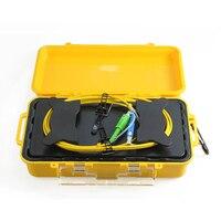 1 км волокно оптическое OTDR кабель запуска коробка одномодовый 9/125um разъем индивидуальные FC/SC/LC/ST