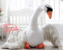 huge plush swan toy big simulation white swan doll gift about 110cm y0001
