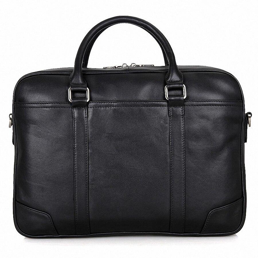 Totes 1650 15 6 Li Lässig Leder Umhängetasche Echte Business Zoll Messenger Laptoptasche Handtasche Aktentasche Black Männer x6Y8zx