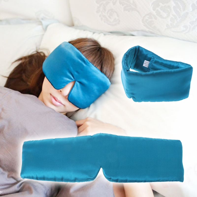 New Fashion Silk Soft Sleep Rest Eye Mask Thicker Shade Cover Travel Relax Aid Blindfolds 1PC