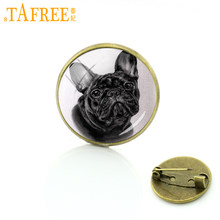 TAFREE Cane Intelligente Spille bulldog Francese cocker spaniel Spilli il più paziente e kid-friendly Distintivo donne degli uomini dei monili a152(China)