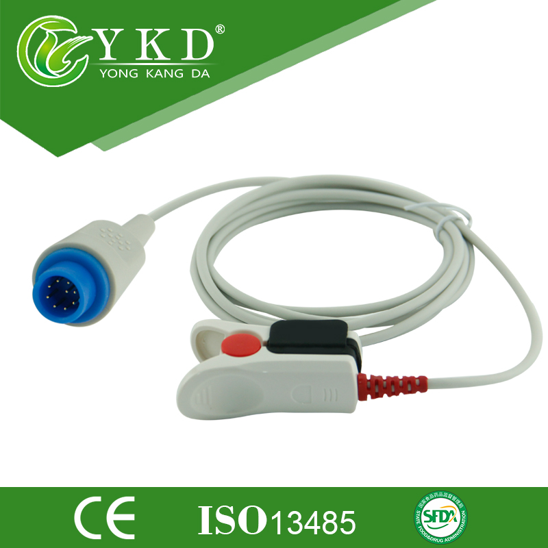 Medical cable BLT 9pin adult finger clip po2 probe, Direct Reusable spo2 sensor