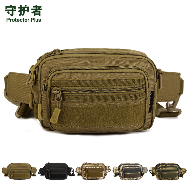 PROTECTOR PLUS Y112 Multipurpose Tactical Waist Bag Messenger Bag Military Camo Hiking Travel Waist Bag Multi-hand Clutch Bag