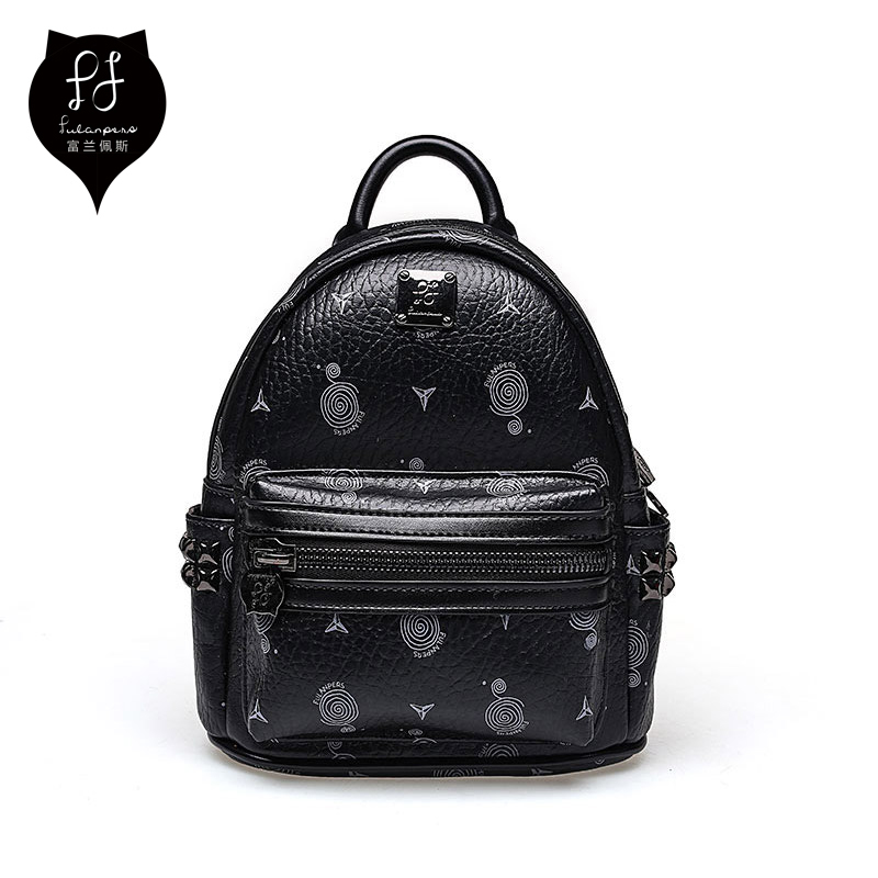 Fulanpers Mini Backpack Female School Bags Small Backpack For Teenage Girls Fashion Women Backpack Bags Ladies White&black