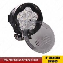 Luz LED de trabajo de 5 pulgadas, luz combinada de 60 W, focos Led 4x4 todoterreno, luz de trabajo de inundación para SUV camión barco 12V 24V SUV ATV x1