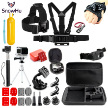 SnowHu For for Gopro Accessories set go pro hero 7 6 5 4  kit mount SJCAM SJ4000 xiaomi yi 4k eken h9 SH80V