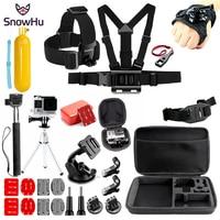 SnowHu For for Gopro Accessories set for go pro hero 9 8 7 6 5 4  kit mount for SJCAM SJ4000 for xiaomi for yi 4k eken h9 GS80A