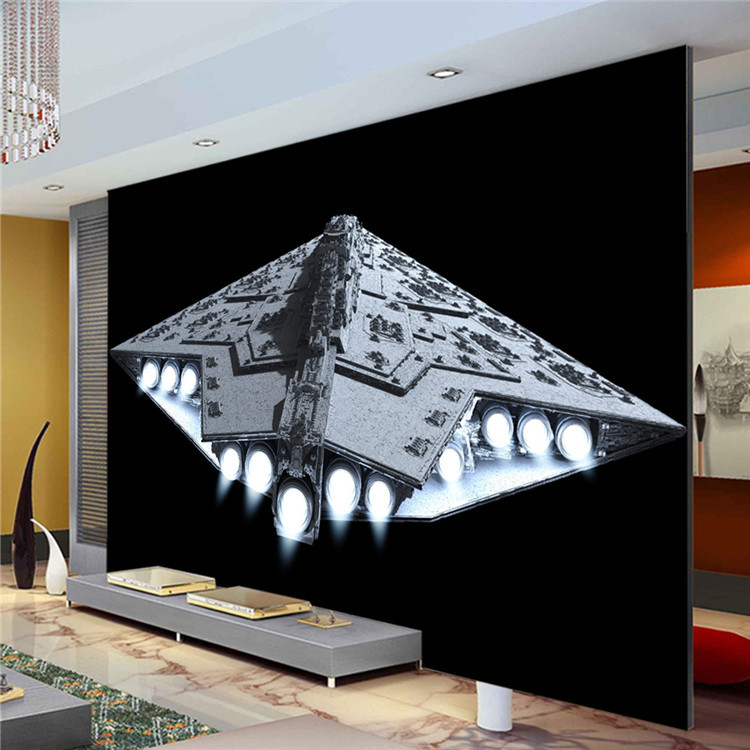 3D Spacecraft Photo Wallpaper Star Wars Wall Mural Custom Wallpaper