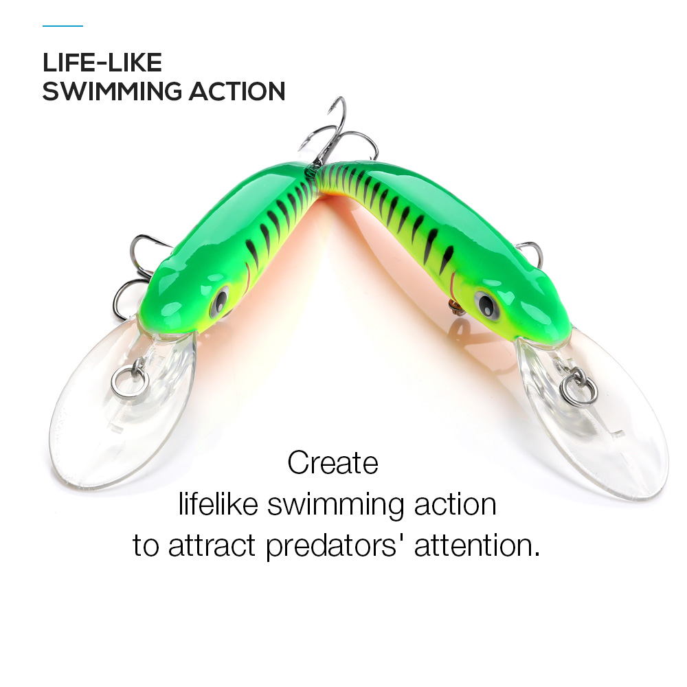Image 3 - TREHOOK Minnow Fishing Lures Wobblers for Trolling/Pike Fishing 10cm 9.5g Floating Fake/Hard Baits Black Minnow Lure Trout-in Fishing Lures from Sports & Entertainment