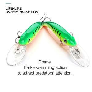 Image 3 - TREHOOK דגיג דיג פתיונות Wobblers עבור חכות/פייק דיג 10cm 9.5g צף מזויף/קשיח פיתיונות שחור מינאו פיתוי פורל