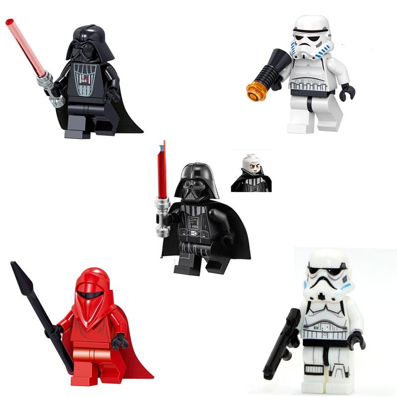 Single Sale Star War Building Blocks Stormtrooper Darth Vader Action Figure Compatible Starwar Collection Toys For Children