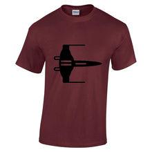 цена на Mens New Star wars X wing fighter Black print short sleeve Burgundyt-shirt Small Free shipping  Harajuku Tops Classic Unique