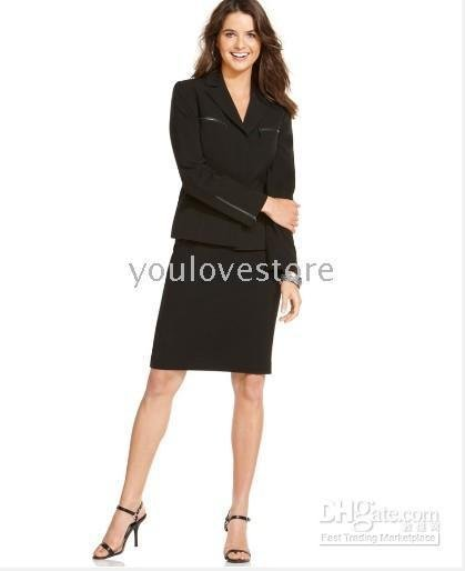 Black Women Suit Brand Lady Skirt Suit Custom Women Skirt Suit