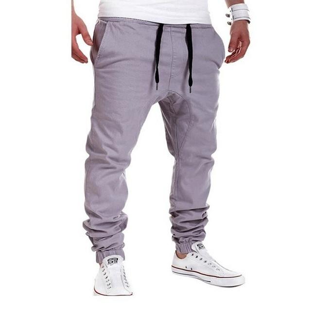 Casual hombres pantalones hip hop pantalones harem de bolsillo único 2017 marca de Pantalones Masculinos Pantalones Pantalones Deportivos Más El Tamaño XXXL harajuku Sólido H1