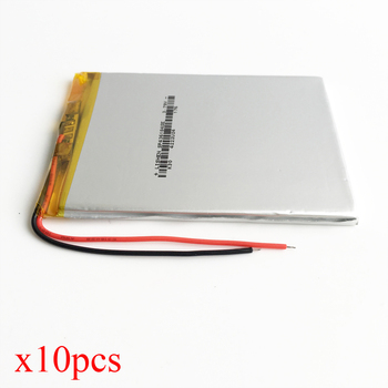 10 pcs 3.7V 2650mAh Lithium Polymer LiPo Rechargeable Battery Li cells For Mp3 GPS PSP PAD DVD Power bank PC 436184
