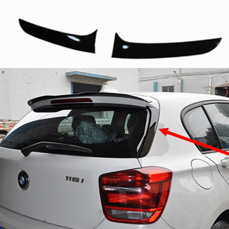 Spoilers For BMW F20 2012 2018 1 One Series 120i 125i 118i M135i 116i F20 Black Painted Rear Wings Roof/Top Spoiler F20 Spoiler