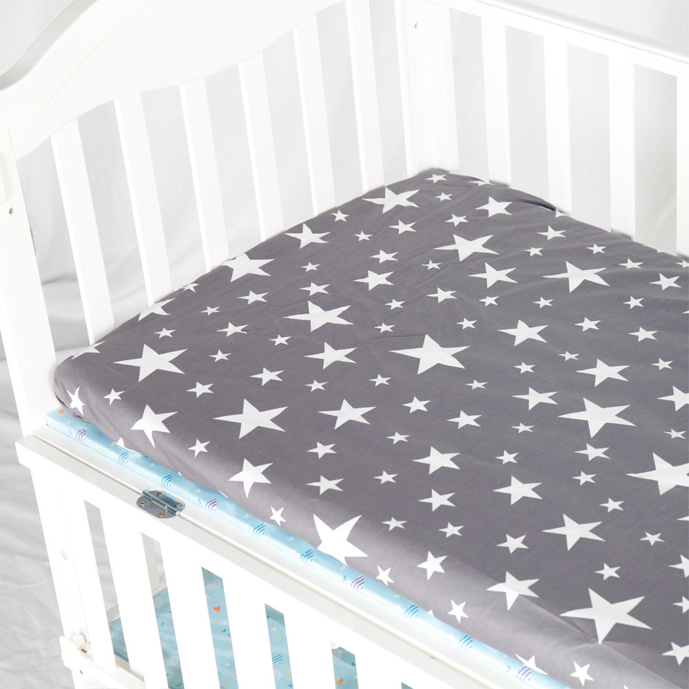 AINAAN 100 Cotton Crib Fitted Sheet Soft Baby Bed