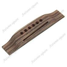 1pc New 6 String Saddle Rosewood Thru Guitar Bridge For Folk Acoustic Guitar