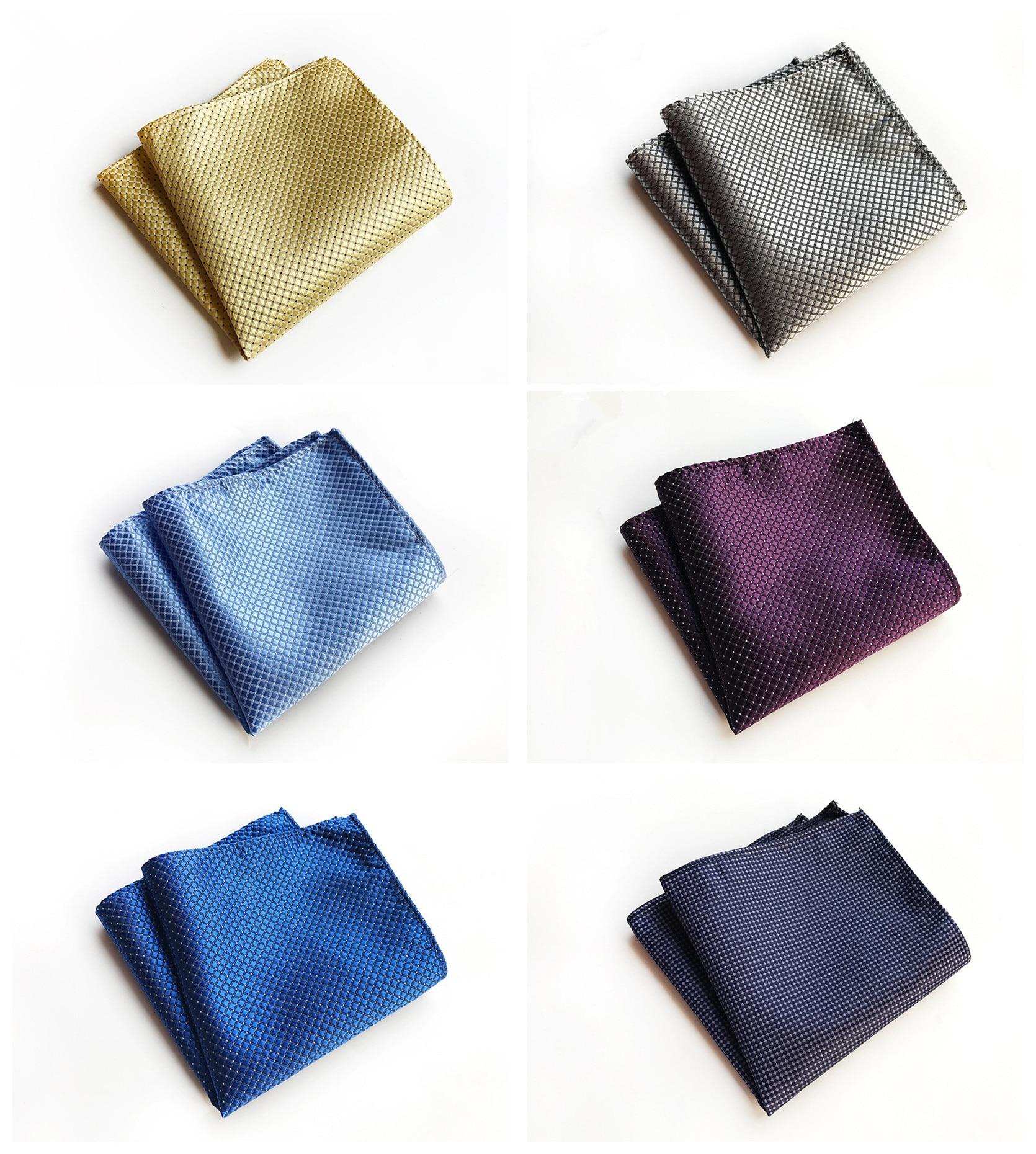 Fashion Explosion Models 25x25cm Polyester Pocket Towel Unique Design Solid Color Dot Business Dress Decorative Pocket Towel