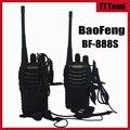 2 шт./компл. Дешевый Walkie Talkie Baofeng BF-888s 5 Вт КАНАЛОВ UHF 400-470 МГц BF 888 S Домофонных BaoFeng 888 S Радио с наушником