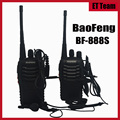 2 pçs/set mais barato baofeng bf-888s walkie talkie 5 w 16ch uhf 400-470 mhz interphone baofeng bf 888 s 888 s de rádio com fone de ouvido