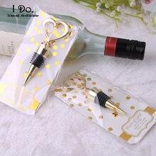 Gold Heart Wine Stopper