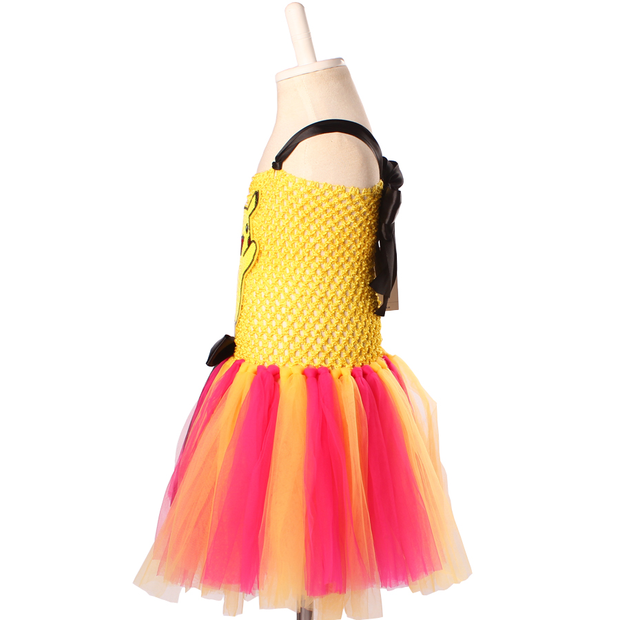 7e2d04a6263 Keenomommy Cartoon Girls Tutu Dress Pikachu Inspired Tutu Dress Birthday  Party Halloween Costume Baby Photo Props TS118-in Dresses from Mother   Kids  on ...