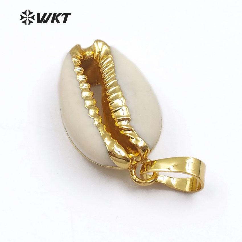 WT-P547 Ny metod Mode små naturliga guld doppade skalhängen Härlig - Märkessmycken - Foto 2
