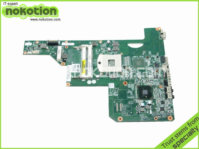 NOKOTION Motherboard for HP Pavilion G72 615849-001 HM55 GMA HD DDR3 laptop Mother Board nokotion 636373 001 da0r13mb6e0 mainboard for hp pavilion g4 g6 g7 laptop motherboard hm65 intel hd gma ddr3 works