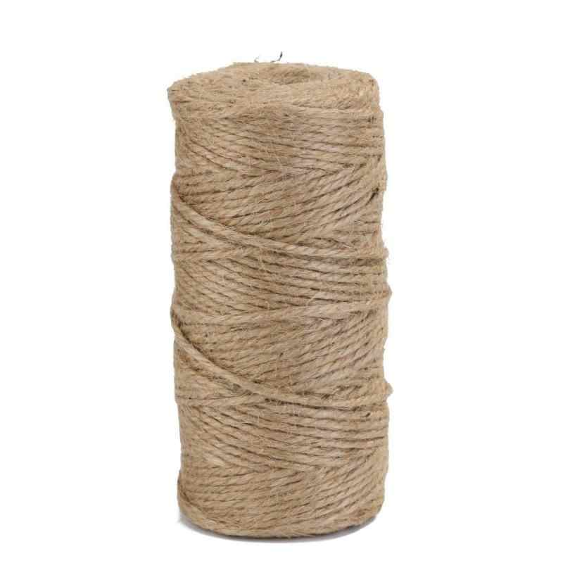 100m/roll Retro Natural Hemp Rope Jute Twine Burlap String Wrapping Cords Thread DIY Handmade Tying Thread Macrame Cord Rope