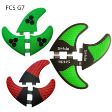 цена на FCS G7 (3 Pieces) carbon fiber quilhas de surf honeycomb fcs surfboards fins thruster pranchas de sup fins surf fins A